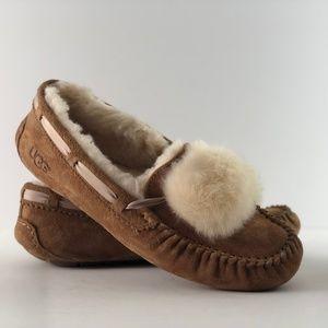 UGG Dakota Genuine Shearling Pompom Slipper
